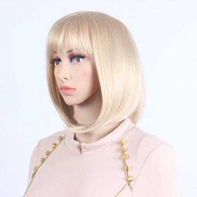 Blonde Bob Wavy Style Heat Resistant Synthetic Hair Wigs For womens SW0020 2016 hot sale heat resistant wigs wavy