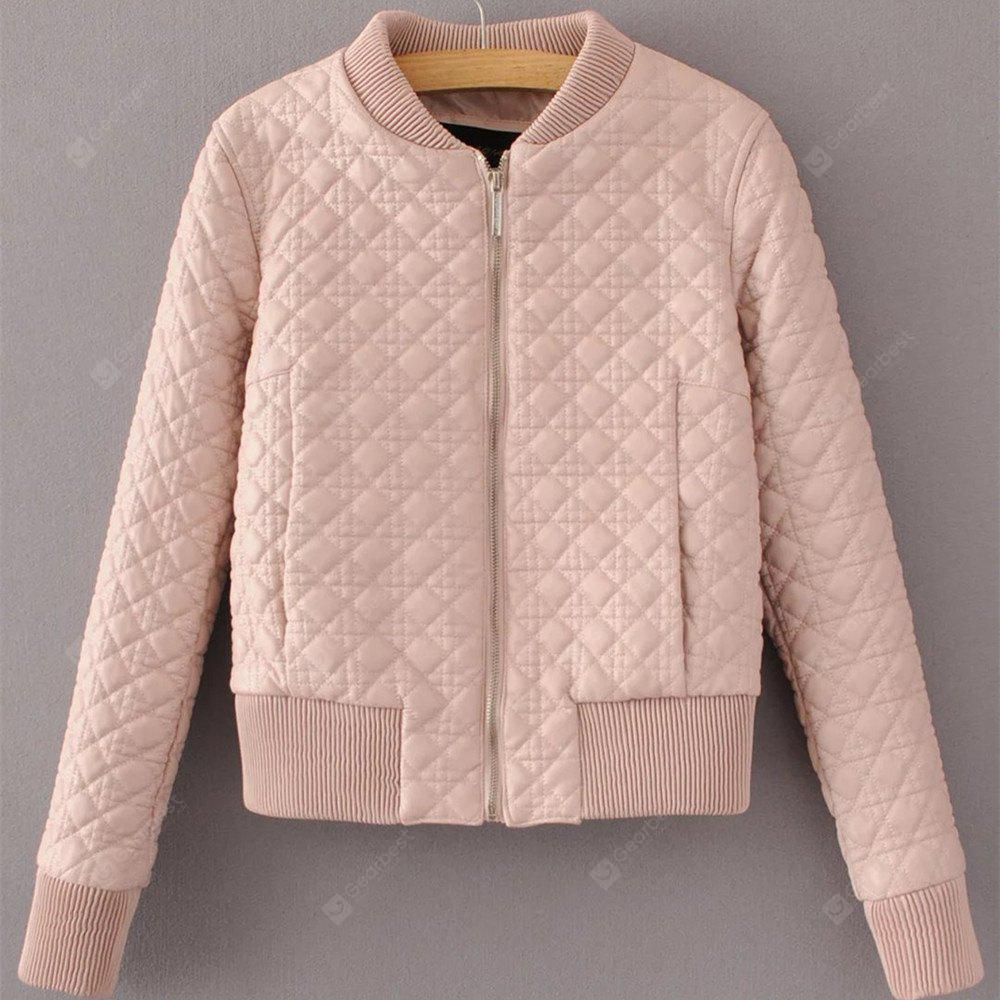Short PU Leather Plus Cotton Baseball Uniform Jacket Female Korean Slim Was Thin Cotton Padded Clothing 2017 Autumn and Winter