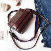 Frosted Handbag Wide Shoulder Strap Winter Fashion Wild Shoulder Messenger Messenger Bag - COFFEE