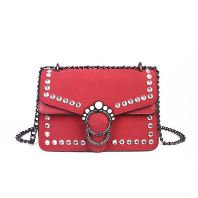 Pearl Rivets Square Package Retro Wild Shoulder Messenger Bag