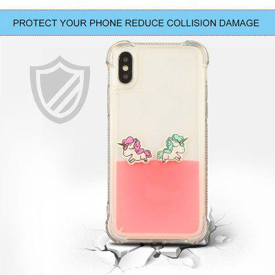 Unicorn Horse Design Dynamic Liquid Case For iPhone X Soft TPU CoveriPhone Cases/Covers<br>Unicorn Horse Design Dynamic Liquid Case For iPhone X Soft TPU Cover<br><br>Compatible for Apple: iPhone X<br>Features: Back Cover, Anti-knock, Dirt-resistant<br>Material: TPU<br>Package Contents: 1 x Phone Case<br>Package size (L x W x H): 18.00 x 15.00 x 5.00 cm / 7.09 x 5.91 x 1.97 inches<br>Package weight: 0.0250 kg<br>Style: Pattern, Cartoon, Novelty