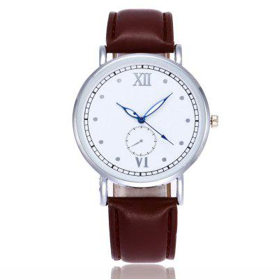 Student Lovely College Style Quartz Watch Girl Casual Leather Strap