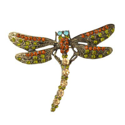 High Quality Crystal Dragonfly Brooches for Women Girl