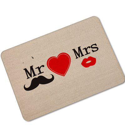 Creative Mr And Mrs Fun Pattern Antiskid Floor Mat