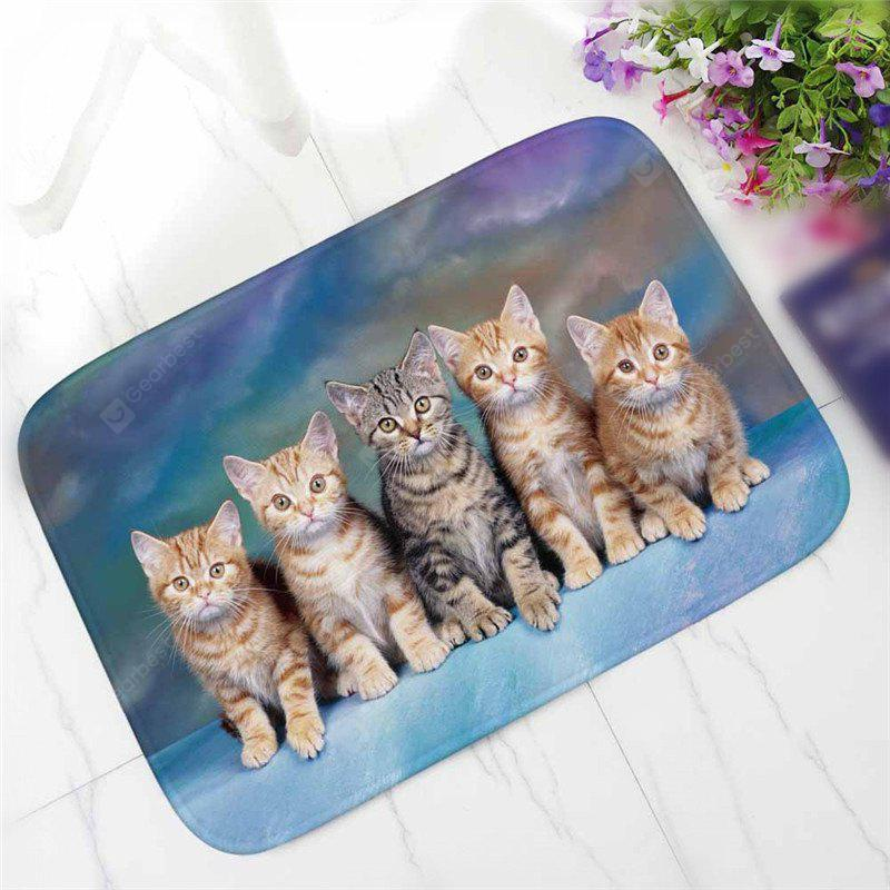 Творческий Cute Cat Pattern Antiskid Floor Mat