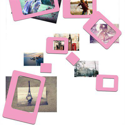 Creative 4PCS Refrigerator Magnetic Picture Frame Paste