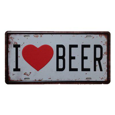 I Love Beer Vintage Metal Painting per Cafe Bar Restaurant Wall Decor
