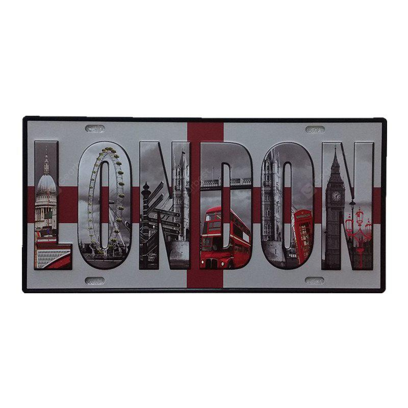 London Vintage Metal Painting per Cafe Bar Restaurant Wall Decor