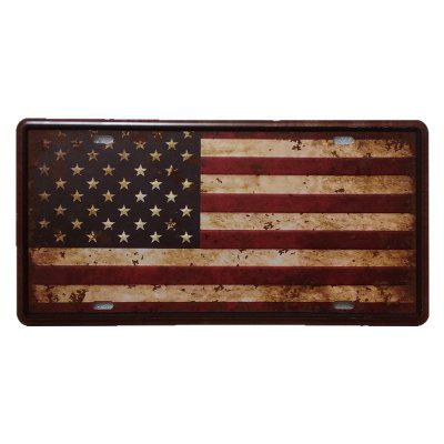 American Flag Vintage Metal Painting per Cafe Bar Restaurant Wall Decor