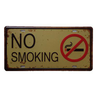 No Smoking Vintage Metal Painting per Cafe Bar Restaurant Wall Decor