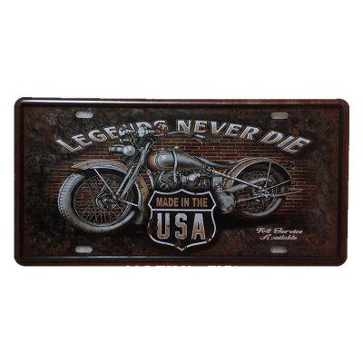 Vintage Motorcycle Metal Painting for Cafe Bar Restaurant Wall Decor