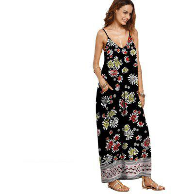 New Large Size Women'S Fashion Leisure Floral Print Dress