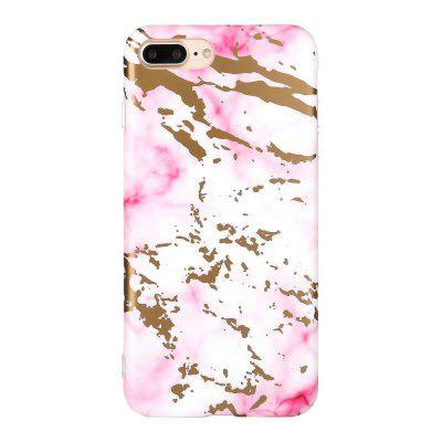 Bronzing Soft Tpu Pink Scrub Marble Stone Pattern Phone Cover Case for iPhone 7 Plus