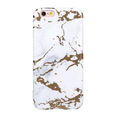 Bronzing Soft Tpu White Scrub Marble Stone Pattern Phone Cover Case for iPhone 6 6s