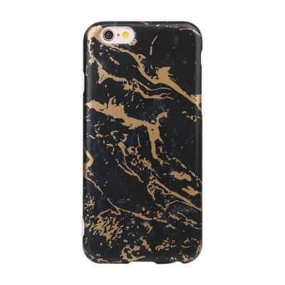 Bronzing Black Gold Soft Tpu Scrub Marble Stone Pattern Phone Cover Case for iPhone 6 6s