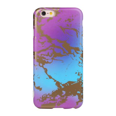 Bronzing Purple Soft Tpu Scrub Marble Stone Pattern Phone Cover Case for iPhone 6 6s