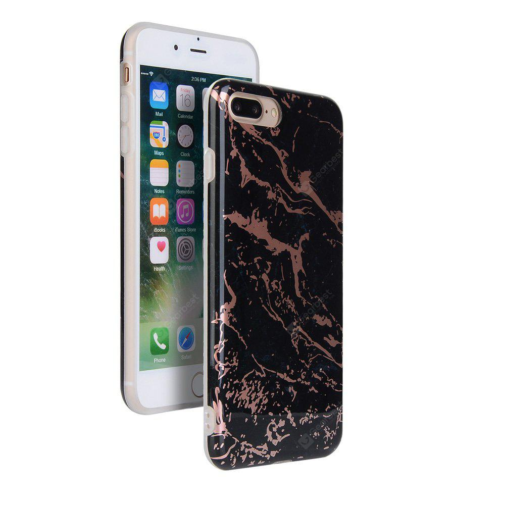 Bronzing Black Marble Stone Muster weichen Tpu Handy Cover Case für iPhone 8 Plus