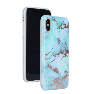 Bronzing Green Marble Stone Pattern Soft Tpu Mobile Phone Cover Case for iPhone X