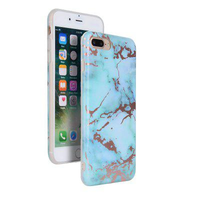 Bronzing Green Marble Stone Pattern Soft Tpu Mobile Phone  Cover Case for iPhone 8 Plus