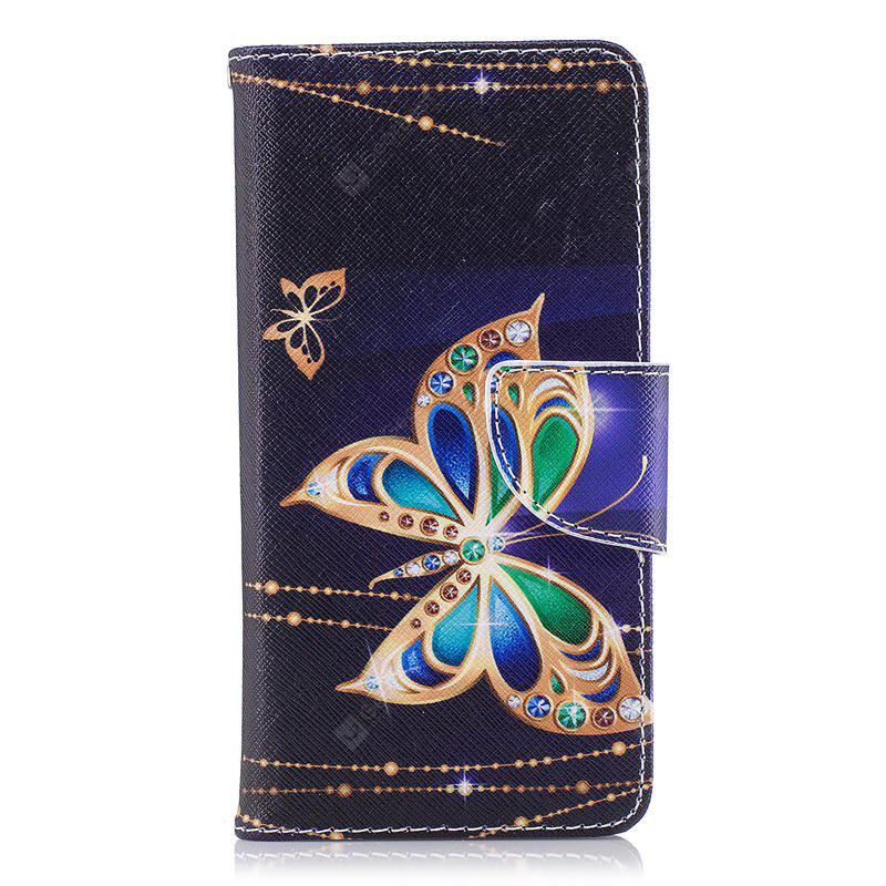 PU Leather Material Big Butterfly Pattern Painted Mobile Phone Cases for Huawei P9 Lite Mini/Y6 PRO 2017