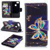 PU Leather Material Big Butterfly Pattern Painted Mobile Phone Cases for Huawei P9 Lite Mini/Y6 PRO 2017 - COLOUR