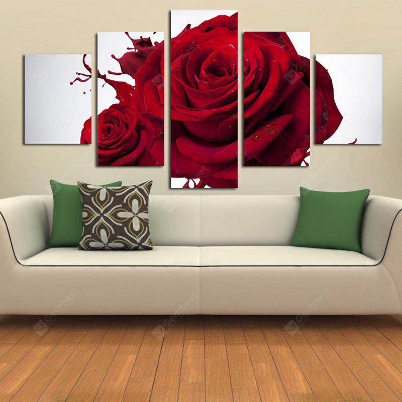 Moderne Frameless Canvas Prints von Rose für Hauptwanddekoration 5pcs