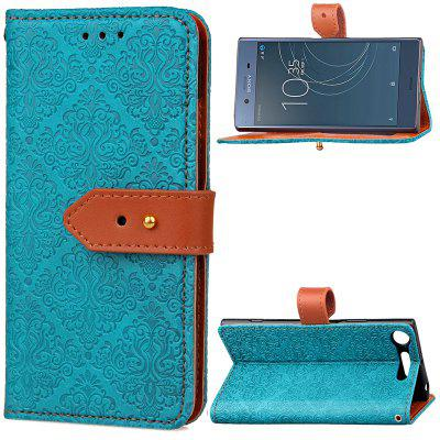 European Dermis Leather Buckle Case Cover for Sony XZ1 Compact