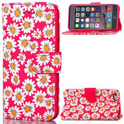 Painted chrysanthemum PU leather Case  Cover for iPhone 6 Plus / 6S Plus