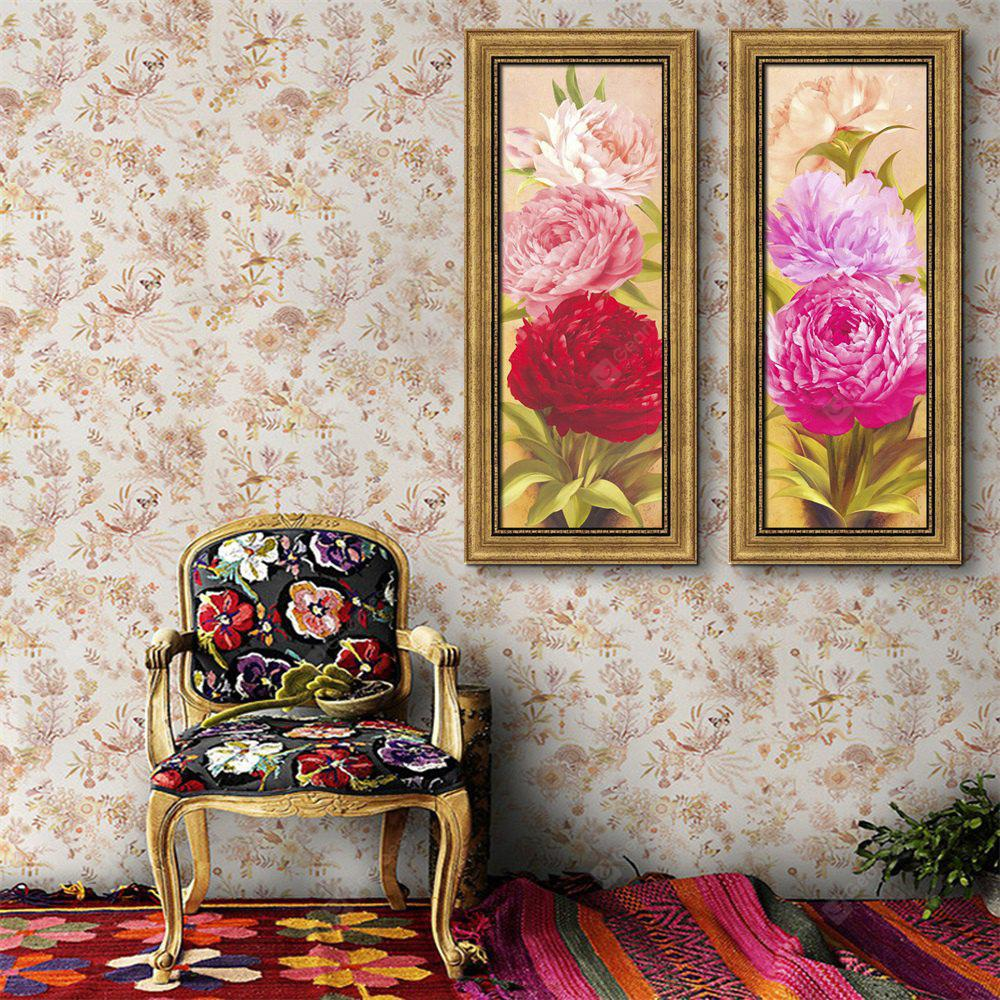 Special Design Frame Paintings I Big Red Flowers Stampa 2PCS