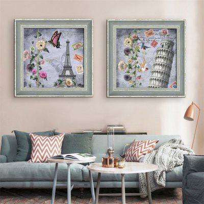 Special Design Frame Paintings Torre pendente Stampa 2PCS