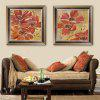 Spezielle Design Rahmen Gemälde Sunflower Print 2PCS - ORANGE