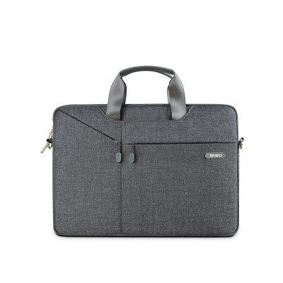 WIWU Water Repellent Laptop Shoulder Bag Case with Handle for Macbook and Notebook 15.4 inch