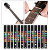 Guitar Fretboard Note Decals Fingerboard Frets Map Sticker - COLOUR