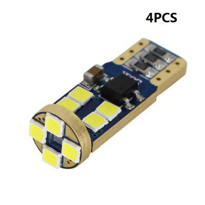 4PCS T10 12 3030 SMD W5W CANBUS LED Interior Bulbs Car Door Lamp License Plate Lights