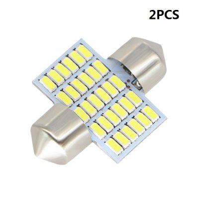 2PCS White Xenon 31mm Car 30 LED 3014 SMD License Plate Light 6418 C5W  LED Bulbs 12V
