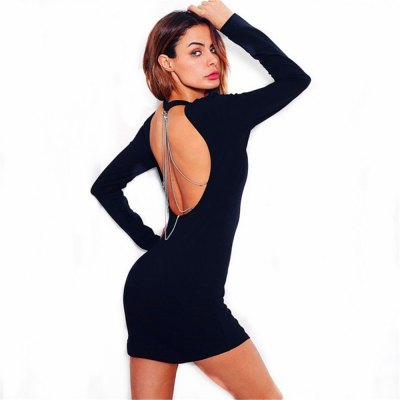 Back Back Dress aperto a catena