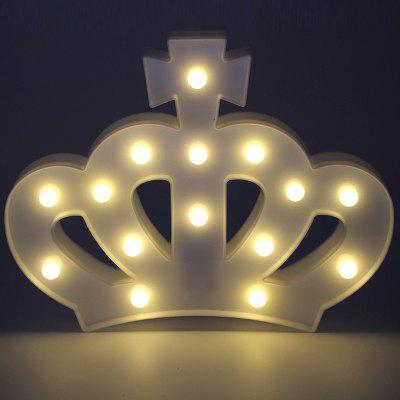 Table Light LED Crown Design Colored Home Night Light
