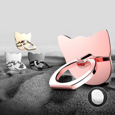 360 Degree Cat Metal Finger Phone Ring Holder maoxin cute cat head finger grip metal ring kickstand for smartphones blue cats