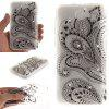 Peacock Flower Diamond Soft Clear IMD TPU Phone Casing Mobile Smartphone Cover Shell Case for Huawei Y5 II - BLACK