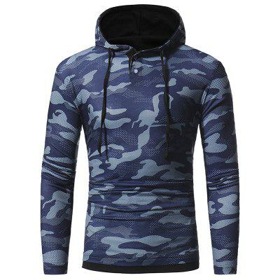 2017 Autumn and Winter Camouflage Casual Hooded Hoodie Long-Sleeved T-Shirt