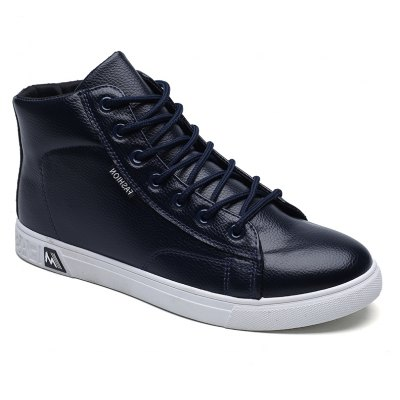 Autumn and Winter High Leather Leisure Shoes