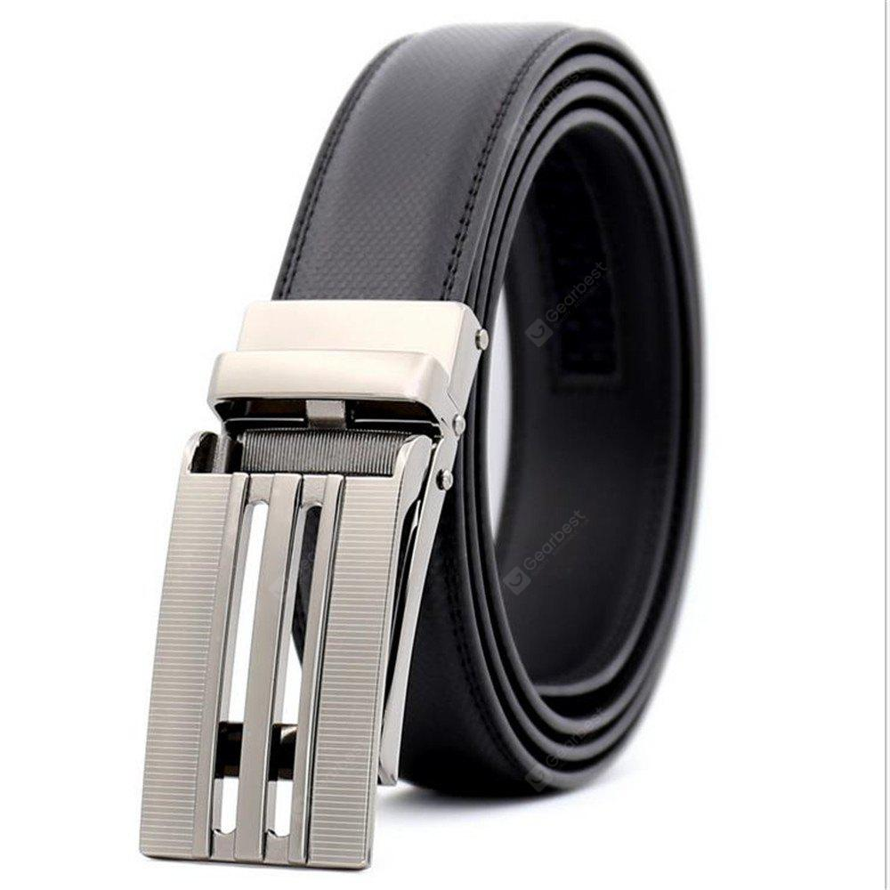 Men'S Leather Automatic Buckle Leather Belt