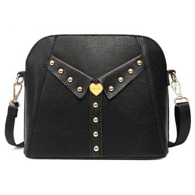 Vintage Rivet Collar Bag for Women's Bag Style and Fashion Shell Bag with A One-shoulder Bag