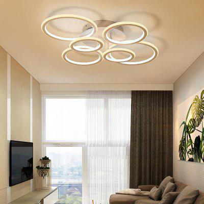 Modern White LED Flush Mount Ceiling Lamp Ring Combination Shape For Office  Room Living Dining Room ...