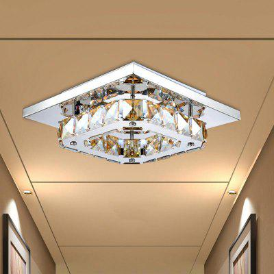 Modern Simple Creative Style LED Crystal  Flush Mount Square Shape for Living Dining Room Bedrooms