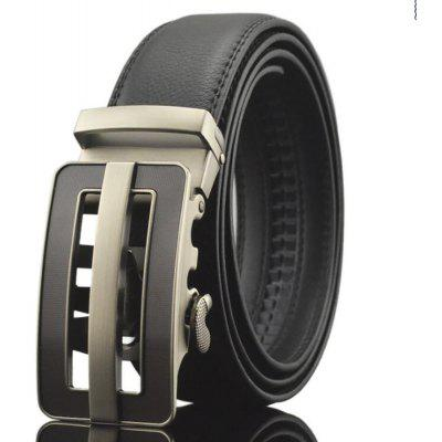 Korean Style Men's Leather Alloy Automatic Buckle