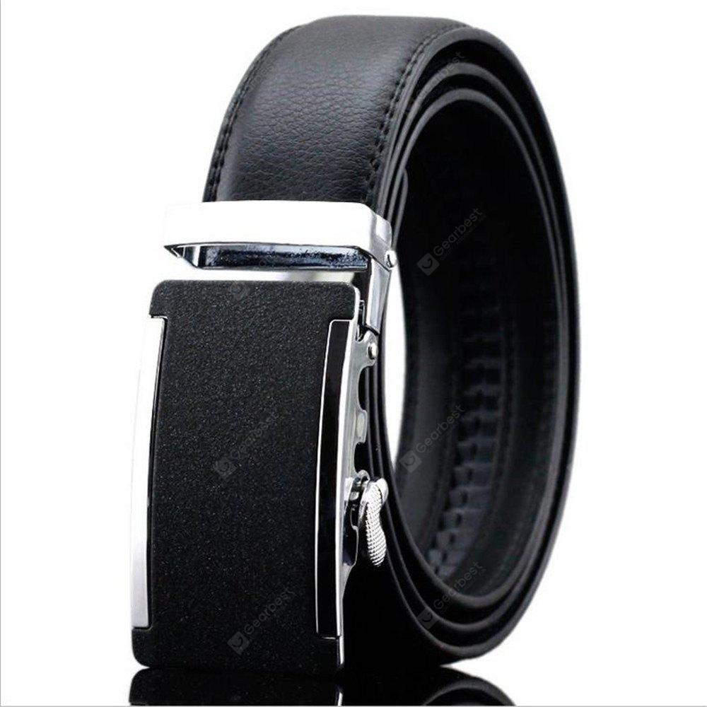 Authentic Korean Style Men's Leather Belt Buckle Automatically