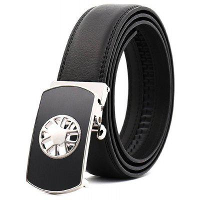 Men's Fashion Business Hollowed Out Automatic Buckle Belt