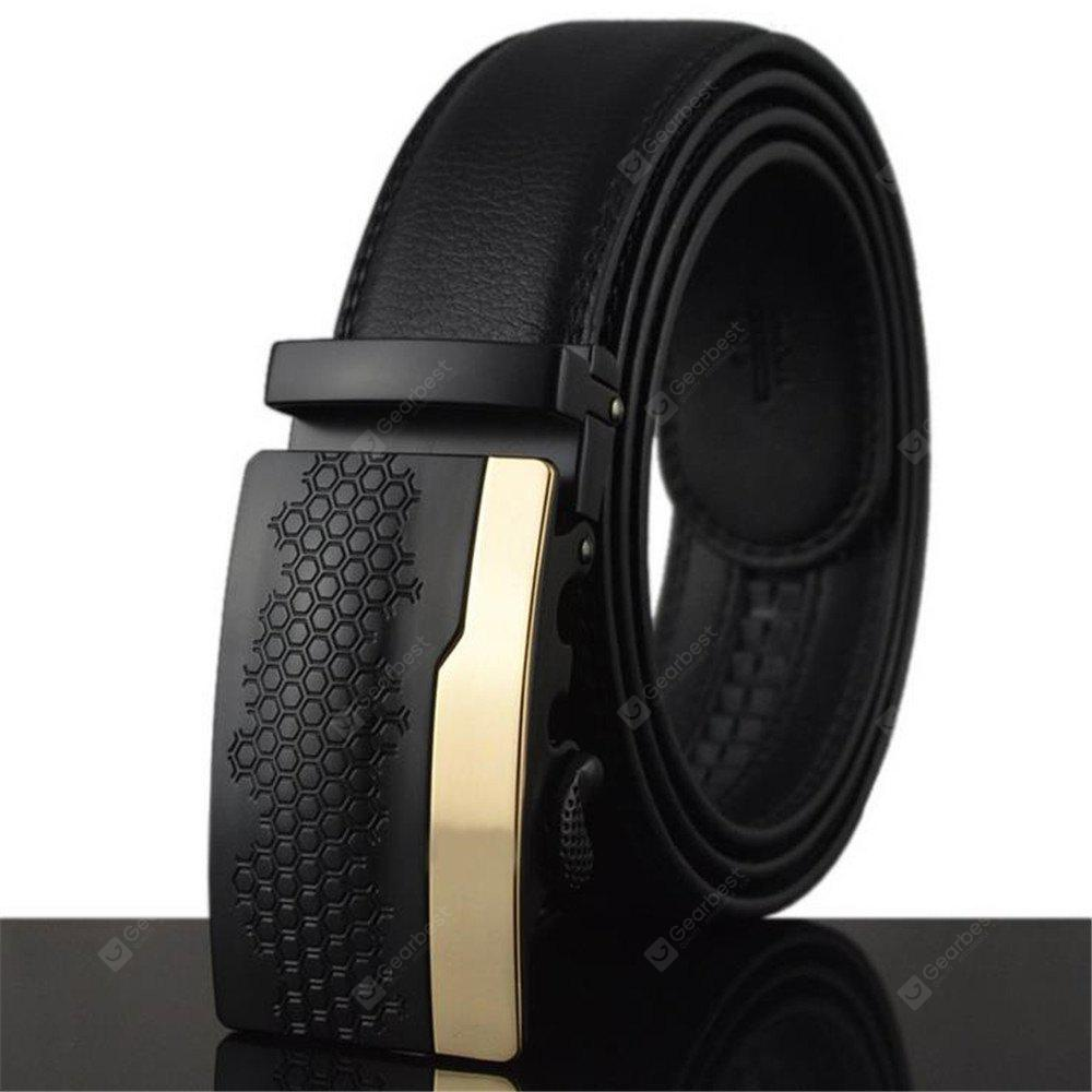 New Men's Leather Automatic Buckle Belt