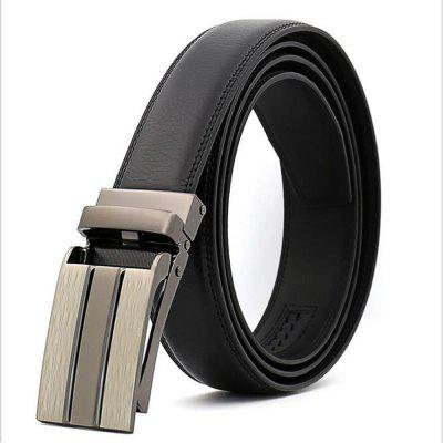 Business Leisure Money for Men's Leather Automatic Buckle Belt